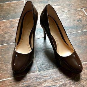 Brown leather Nike Air Cole Haan heels